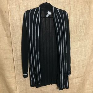 Chico's travelers collection black cardigan 1 M